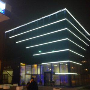 Подсветка здания на полюстровском