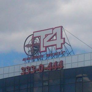 Бизнес Центр Т4 / Новая крышная установка