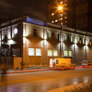Подсветка фасада для СПбГУПТД на Розенштейна