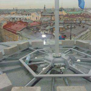 СПГУПТД / Изготовление и монтаж флагштока на Б. Морской