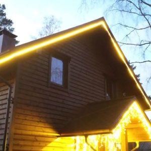 Праздничное световое оформление коттеджей