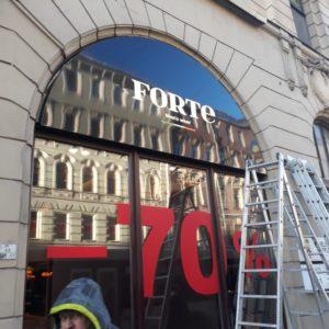 Новая вывеска для бутика FORTE