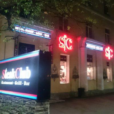 Steakclub световая реклама