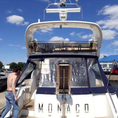 буквы на яхте