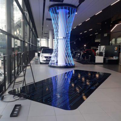 Зона продаж электромобилей Mercedes Benz