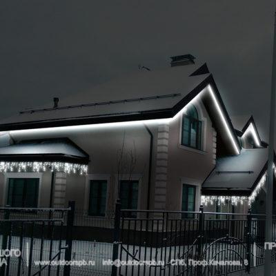 Как подсветить загородный дом?